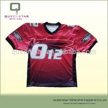latest custom sublimated printing team made American football/hockey jerseys