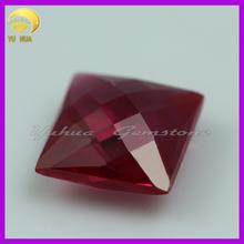 6X6 high quality corundum gems Square ruby for setting jewelry stone