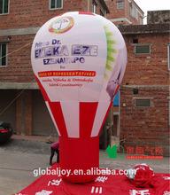 Hot sale promotional helium balloon price/PVC inflatable human balloon/inflatable light balloon wholesale price