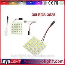led pcb Panel White 36-3528 6*6 SMD LED Car Interior Dome Reading Light Bulbs Lamp