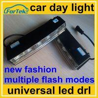 new fashion auto upgrade kit multiple flash modes car day light universal led DRL / daytime running light