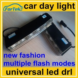 new fashion auto upgrade kit multiple flash modes car day light universal led DRL / daytime running light