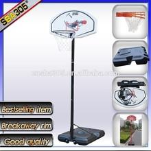 portable basketball stand with basketball pole and net