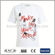 hotsale china good price woman white athletic fit t-shirts