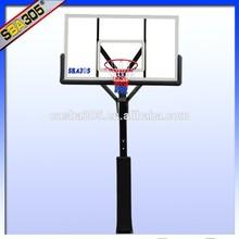 inground basketball stand with acrylic basketball backboards square pole