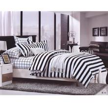 Black & white series microfiber disperse printed european style bedding set