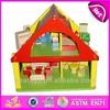 2015 New wooden house children toy,popular wooden house children toy and hot sale colorful wooden house children toy WJ276152