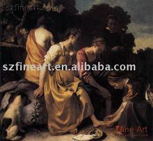 100% handmade high quality Classic Women Oil painting
