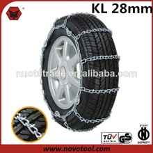 28mm KL Series Passenger Car V-bar Steel Auto snow chain