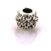 DIY fancy silver alloy beads round beads