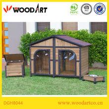 Large wooden double doors luxury dog houses