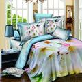 Novo design de moda 100% colchas de algodão com cores brilhantes flor padrão