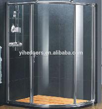Aluminum profile frame for glass shower door