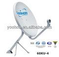 60ku-4 antenna tv satellitare frequenza con 500 sale ore spray certificazione