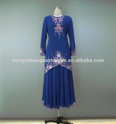 2014 New design model chiffon baju kurung modern wholesale baju kurung
