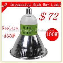Prix bas avec la plus nouvelle conception du ventilateur en elle et puces epistar.& ul, 100w pilote led haute puissance industrielle lumière