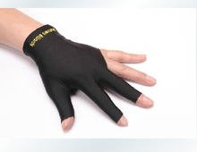 high quality pool/snooker /billiard gloves / 3 finger gloves cue finger
