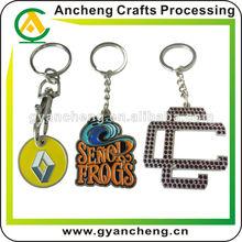 2014 hot sale metal keychain manufacturer / metal,pvc,car logo keychain keyring factory