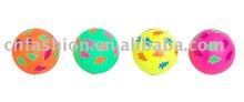 Fluorescent color rubber fish ball