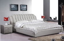 2014 latest double bed designs hot selling model
