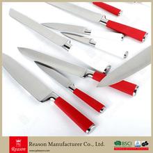 5pcs Red Kitchen Knife Set