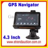 """4.3 Inch GPS Navigation For Car 4.3"""" Touch Screen GPS Navigation FM MP3/4 FREE MAP USA EURO UK 4GB"""