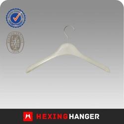 White plastic small baby hanger