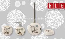 wholesale circle ceramic accessory set for bathroom