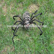 SPIDER WIHT BROWN SHINNING LIGHTS BLACK STRIPE FOR HALLOWEEN GARDEN DECORATION