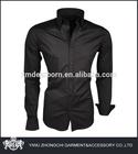 spread collar black trim fit dress shirts