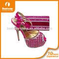 2015 parte las señoras zapatos de tacón alto y sobres a juego de la moda zapatos de tacón alto