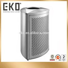 EKO 120L Stainless Steel Large Outdoor Bin with PP Liner