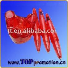 promtional red design plastic ball pen BZH3126