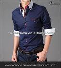 pinstripe contrast men shirt korean clothing