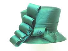 Fashion ladies satin church hats