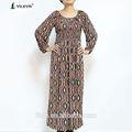 gevşek o boyun uzun kollu bayan fantezi güzel islam kadınlar için elbise