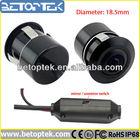 Color universal waterproof drilled mounted car reversing camera, 18.5mm diameter (BRC-510-170)