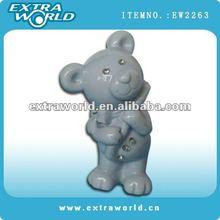 mini porcelain cartoon bear with diamond