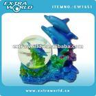 dolphin polyresin snow ball souvenir gifts
