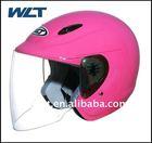 open face motorcycle pink motorcycle helmet