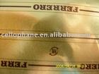 golden aluminum foil paper