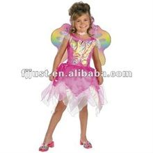 Fashion fairy wings pink party dresses