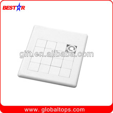 Plastic sliding jigsaw puzzle for intelligence development and fun