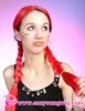 Football fans wig, red party wig,synthetic braids wigs