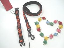 Pet product dog collar & leash lead adjustable fabric webbing