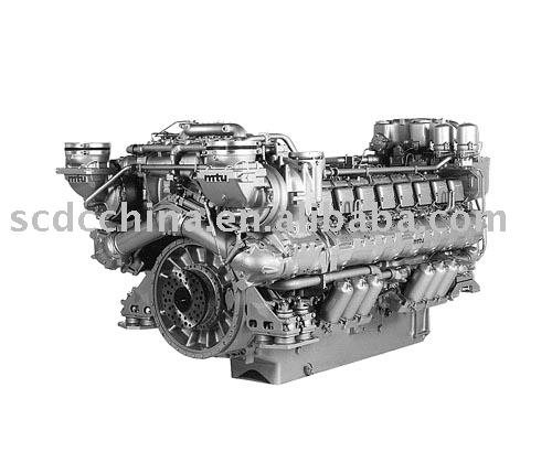 Mtu 396 del motor