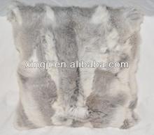 Rabbit Fur Cushion Cover Fur Pillow Case