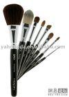 Nylon/goat /rcoon/sable/pony hair cosmetic brush set, cosmetic brush, make up brush set