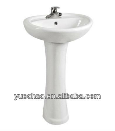 Sanitary Ware D932 Pedestal Basin Sink Cabinet Wash Basin