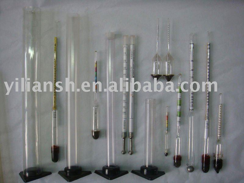 Cristal medidor de densidad de hidrómetro